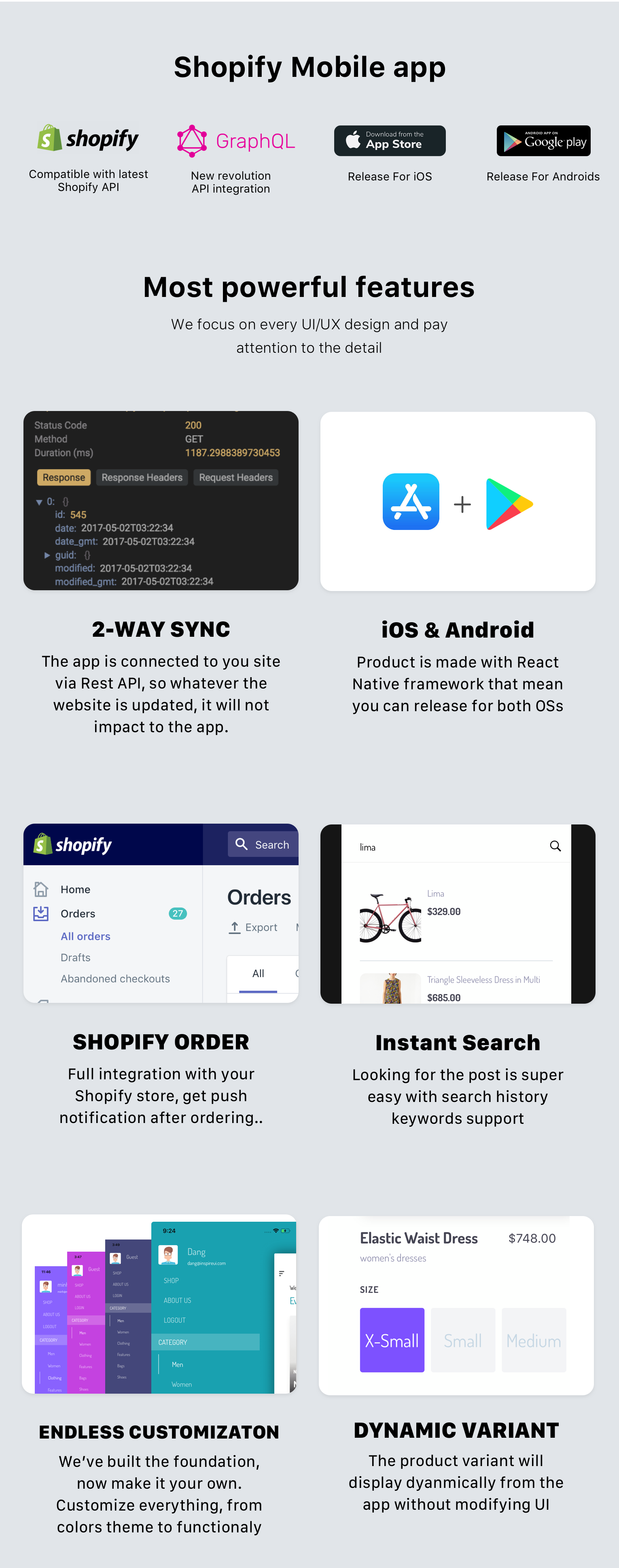 EvaStore - the complete mobile app for Shopify store by React Native and GraphQL - 1