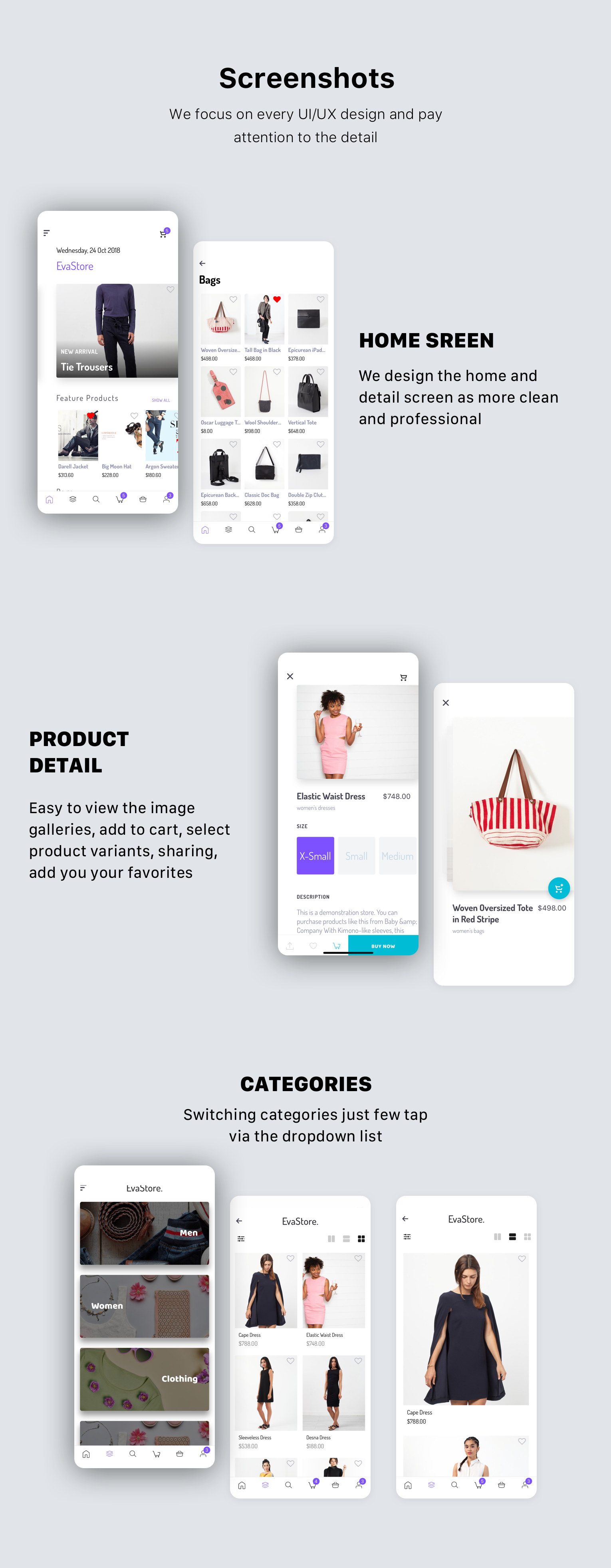 EvaStore - Shopify mobile store by React Native and GraphQL - 3