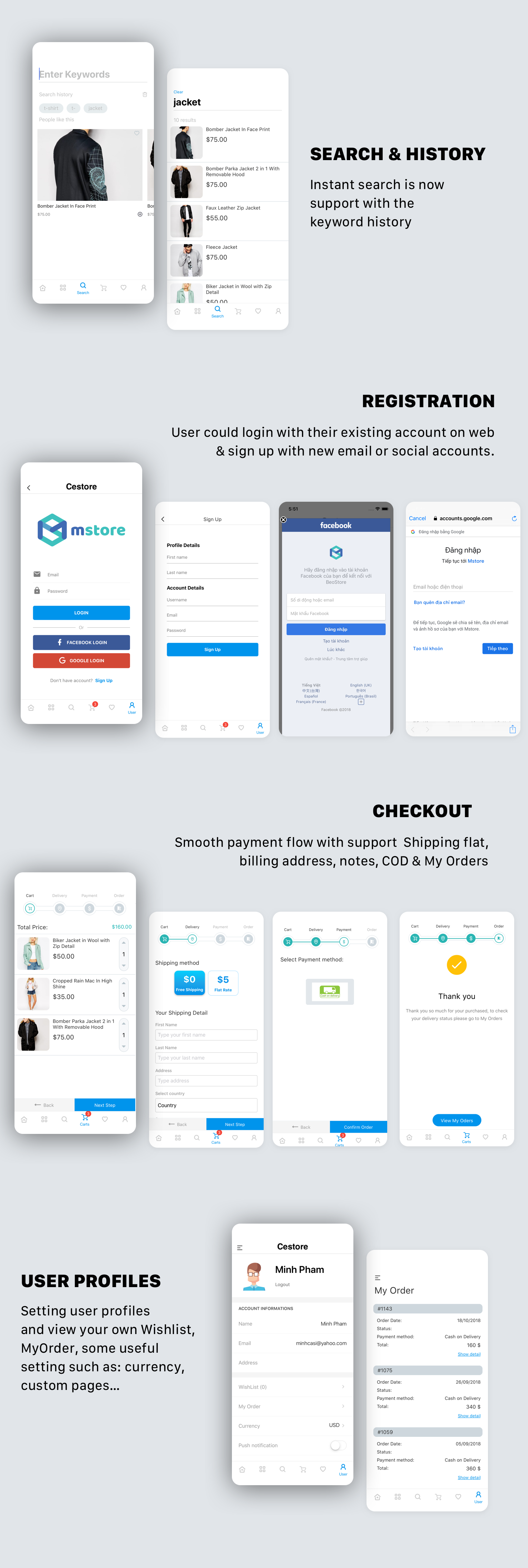 CeStore - ReactJS web app & React Native mobile app for e-commerce - 6