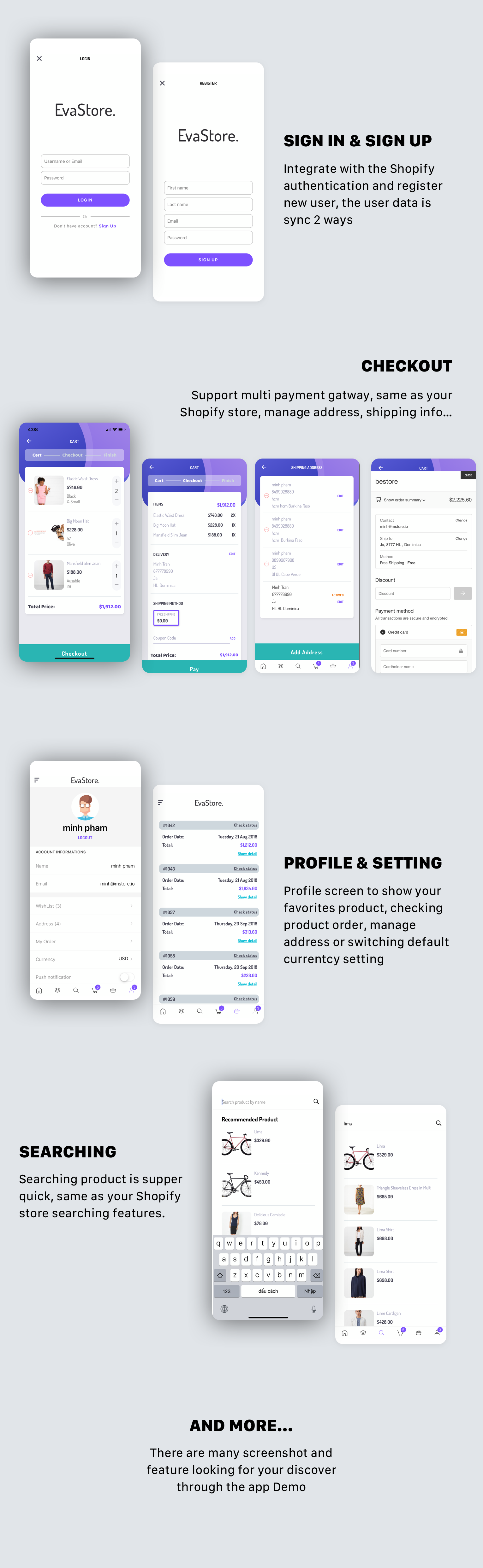 EvaStore - Shopify mobile store by React Native and GraphQL - 4