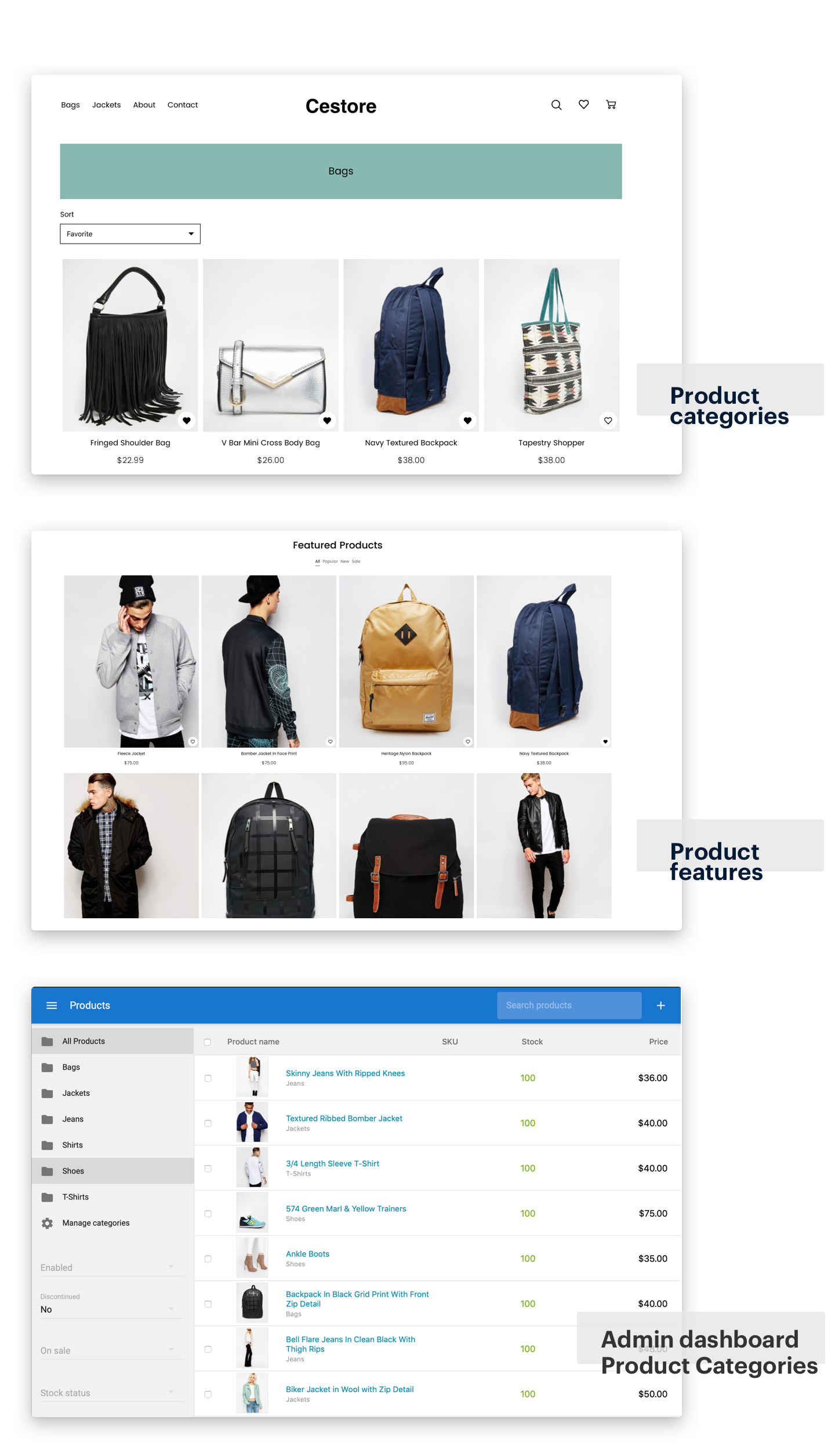 CeStore - ReactJS web app & React Native mobile app for e-commerce - 12