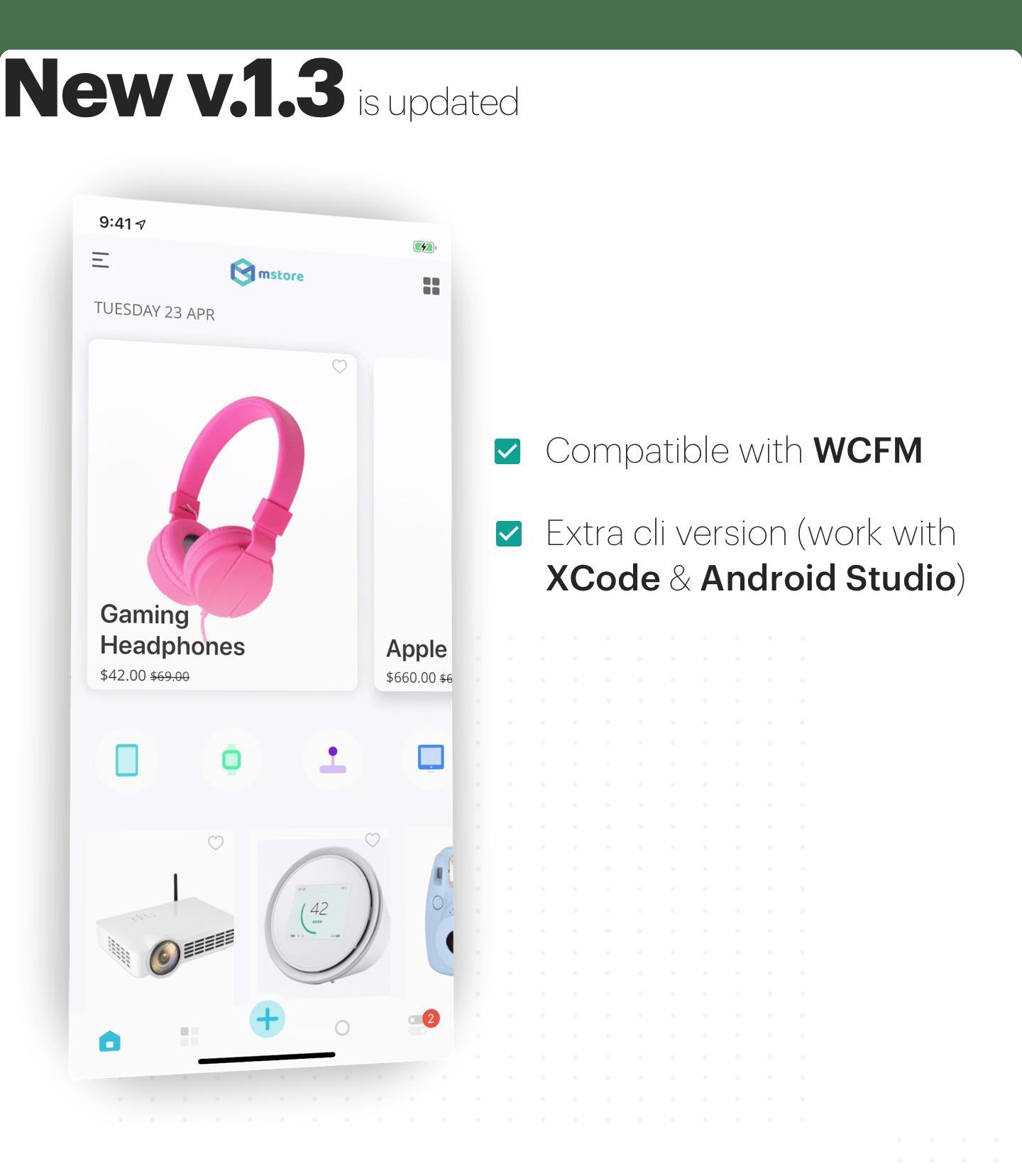 MStore Multi Vendor - Modelo completo do React Native para WooCommerce - 1
