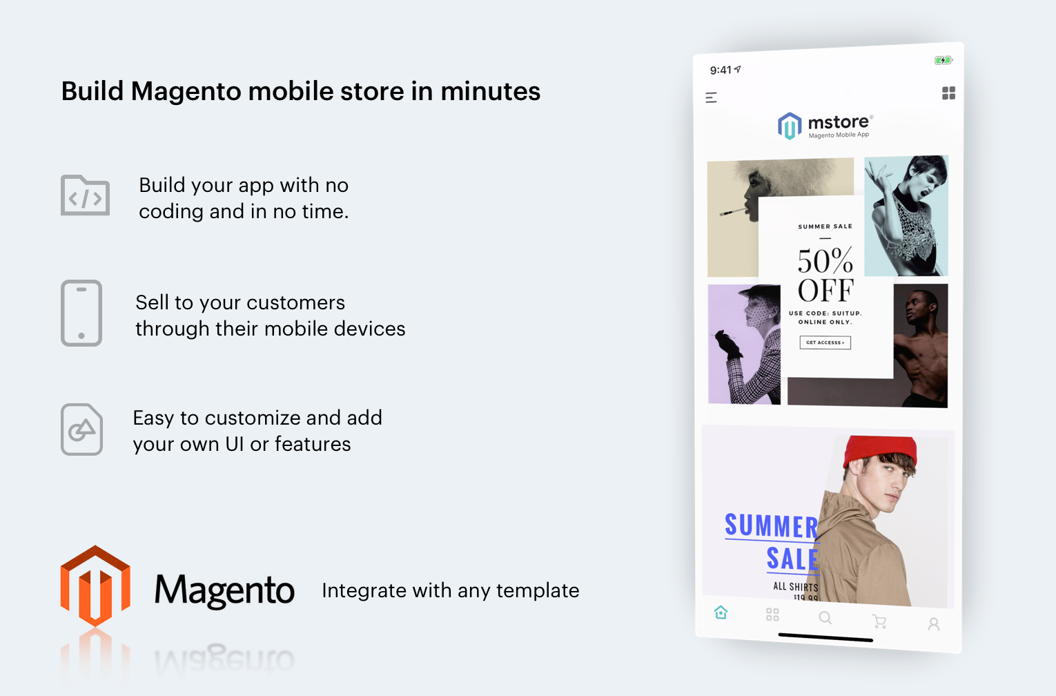 Mstore Magento2 - The complete React Native mobile app for