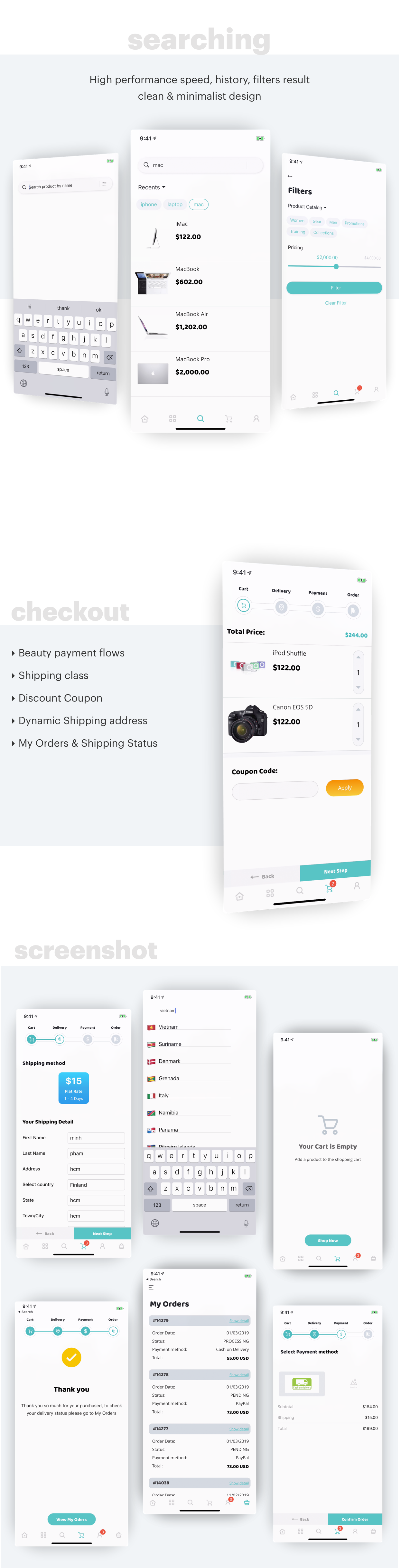 MStore Opencart - the complete react native e-commerce app - 4